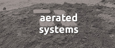 Waste water treatment aerated system